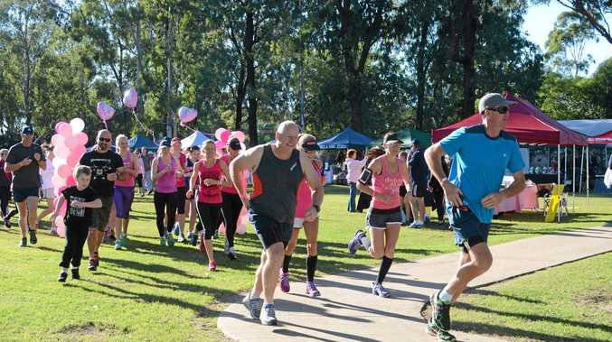 IN THE PINK: Runners at the Dalby Mother's Day Classic last year.