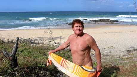 Mark Hayter is frustrated that police keep fining nudists at A-Bay. Photo: Nicola Brander / Sunshine Coast Daily