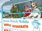 CLEAN CANINES: Aussie Pooch Mobile Toowoomba owner Jo Green and dog Jukey . Friday May 6 , 2016.