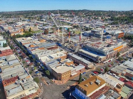 The Grand Central redevelopment as seen from above. Photo courtesy of Hummingbird Drone Solutions and Colliers International.