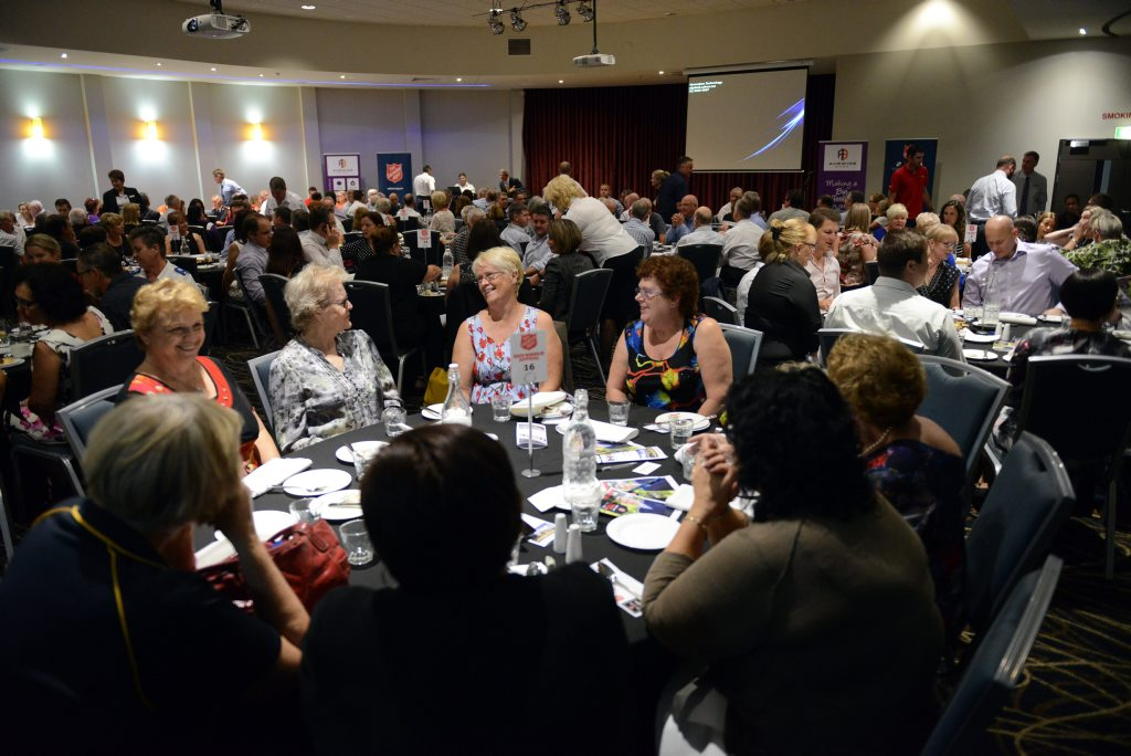 LUNCH LAUNCH: Community members at the Red Shield Appeal launch lunch held at The Waves on Friday, 6 May 2016. Photo: Max Fleet / NewsMail