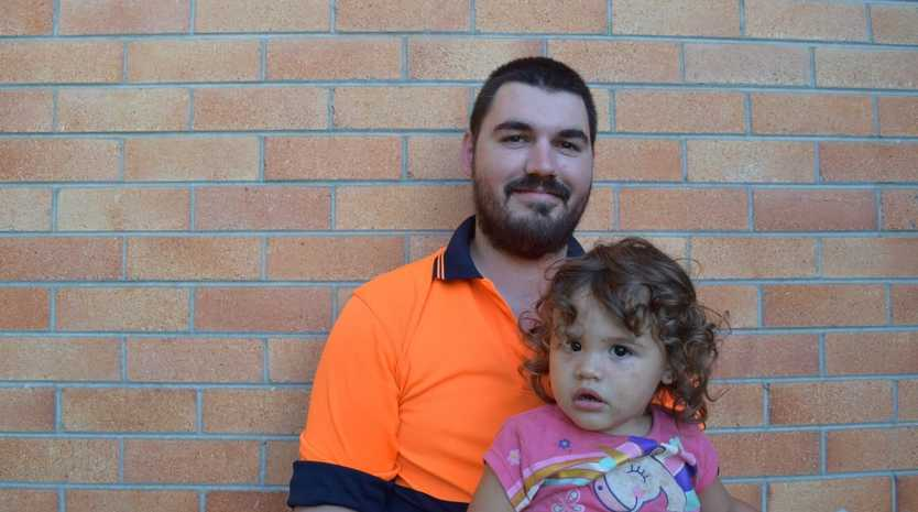 WORK IS WORK: Quinton Hutchinson, 23, is desperate for work to support his daughter Rosalie, who is 2 in July.