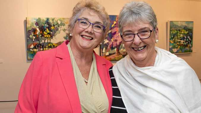 Barbara Broom (left) and Judith Jeward have a great night.