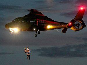 Boy saved from dam thanks 'wokka wokka' (rescue helicopter)