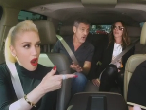 Gwen Stefani, George Clooney and Julia Roberts sing Queen