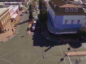 Toowoomba CBD drone footage