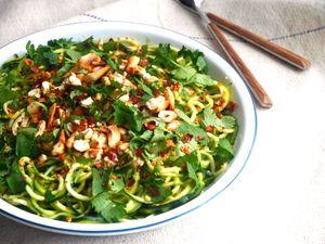 RECIPE: Zucchini noodles and coriander salad