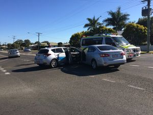 Blue Care car involved in two-car smash