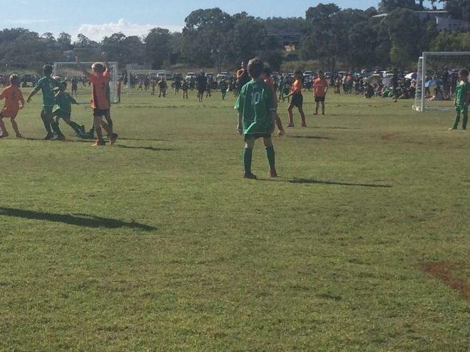 U 9 soccer action