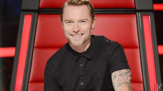 Ronan Keating pictured during the blind auditions on The Voice.