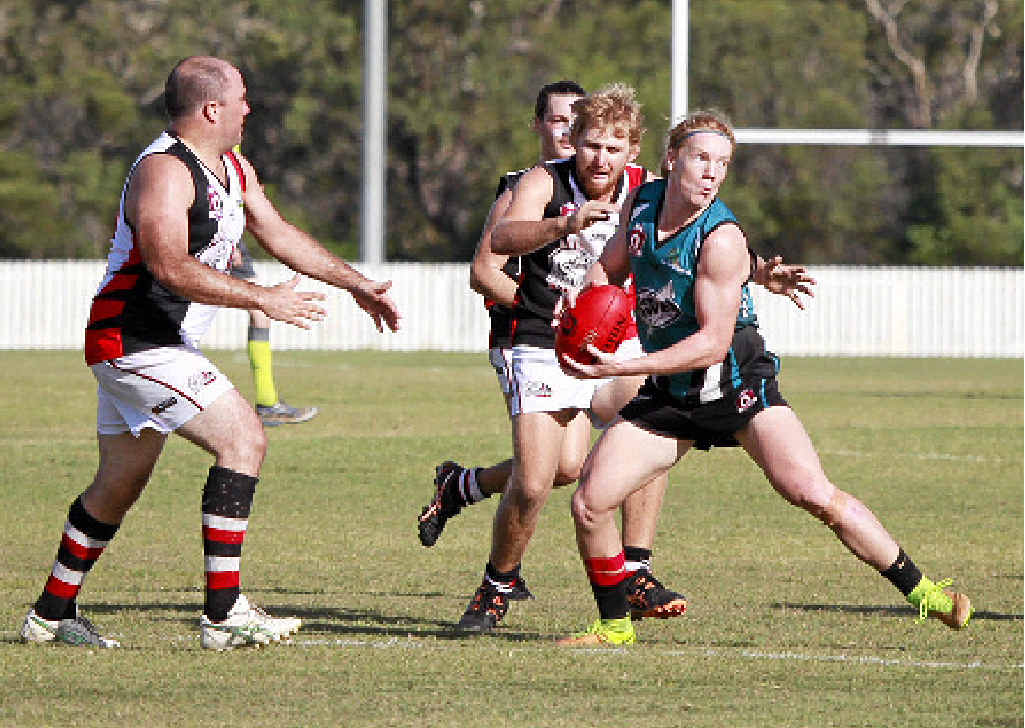 LOOKING FOR BACKUP: Marcus Dyson plays for Bay Power against Bundaberg in Hervey Bay last weekend.