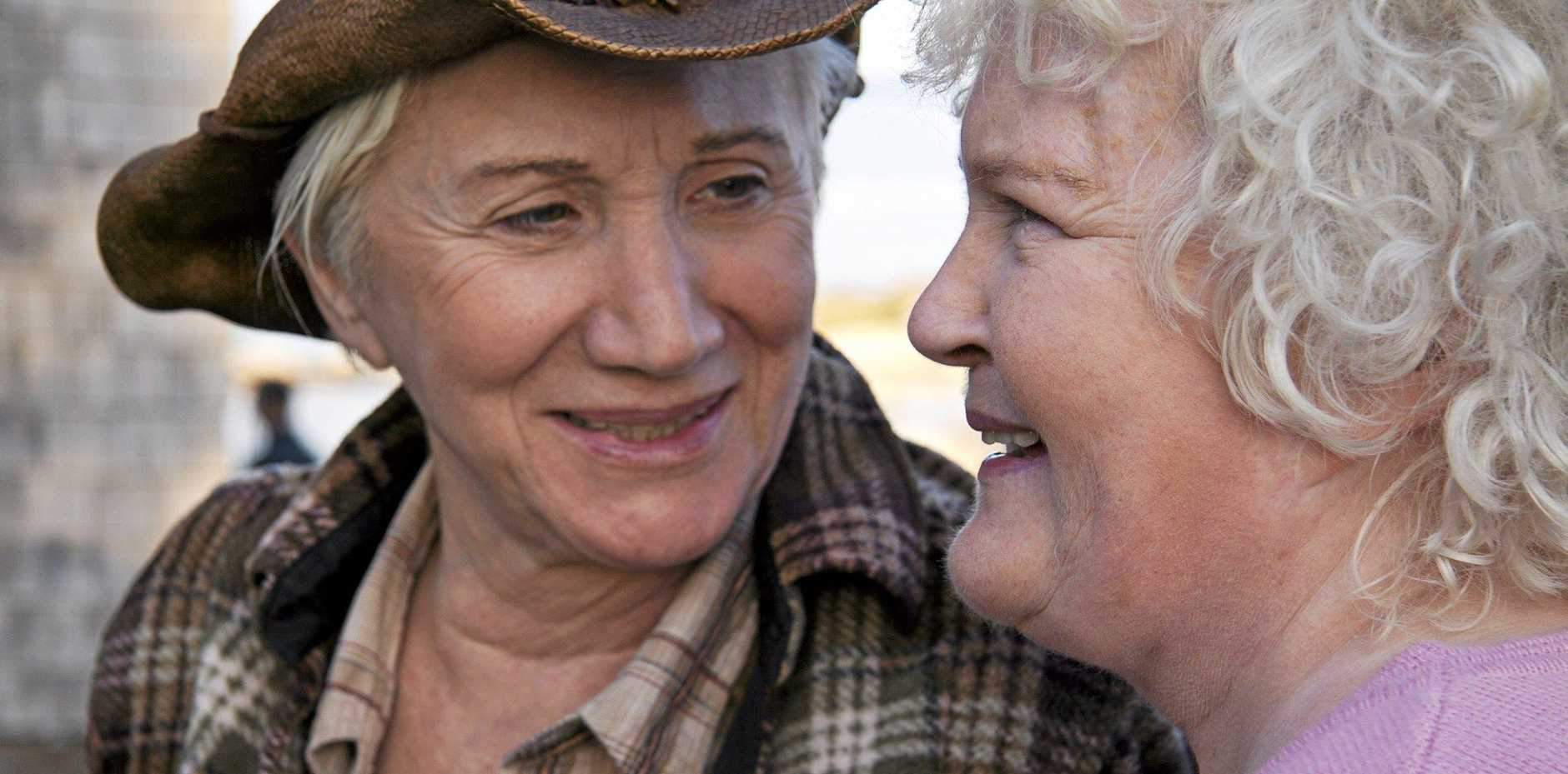 HEARTFELT: Academy Award winners Olympia Dukakis and Brenda Fricker will bring great heart and spirit to the Jetty Theatre next week in Cloudburst.