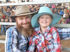Father and daughter Arnold and Denaye Bale travelled from Glenden for the Nebo Rodeo. Photo: Emily Smith