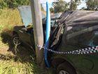 Car crash victims lucky to escape