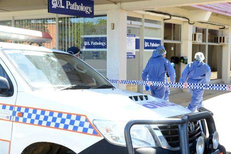 CRIME SCENE: Scenes of crime arrive at the Bundaberg CBD to investigate. Photo: Paul Donaldson / NewsMail