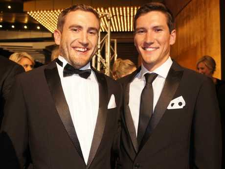 House Rules stars Luke and Cody Cook pictured on the Logies red carpet.