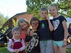 Enjoying St Mark's Parish Fete were Annie Biggs, Alissa Mauch, Mitchell Biggs, Lachlan and Emily Mauch.Photo Sophie Lester / Warwick Daily News