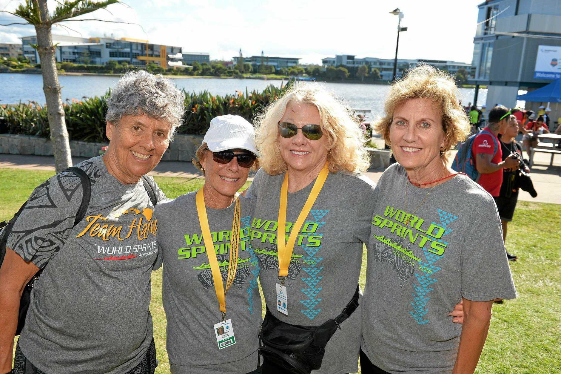 Over 70s crew, Joyce Spoehr, Patsy Sheehan, Barbara Bryan and Joy Nelson.