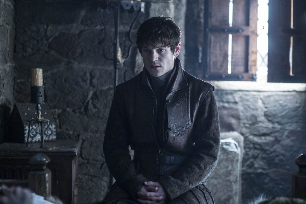 Iwan Rheon as Ramsay Bolton in a scene from season six of the TV series Game of Thrones. Supplied by Foxtel.