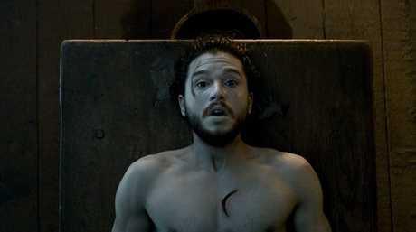 Kit Harrington as Jon Snow in a scene from season six of Game of Thrones.