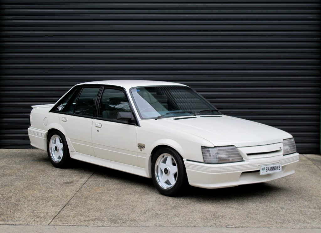 LEGEND: Peter Brock's 1984 Holden VK Commodore 'SS' Group 3 Sedan and Opel Monza Coupe at auction at Shannons later this month.