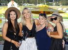 Kendall Geraghty, Lori Coates, Deanne Krueger and Tahlia McCaffrey at the St Edmund's race day at Bundamba on Saturday.