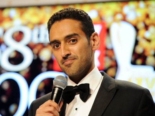 Gold Logie winner Waleed Aly at the 2016 Logie Awards at the Crown Casino in Melbourne.