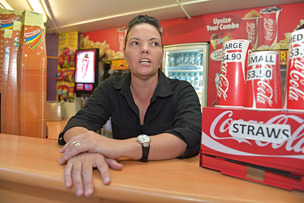 Big Screen Cinemas candy bar manager Amanda McClarence was proud of her daughter's actions during an armed robbery.