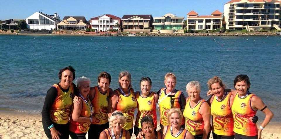 WINNERS: The Burleigh Girlies made a clean sweep of the gold medals in the Australian Nationals and the Club Crew World Championship events held in Adelaide early in April.
