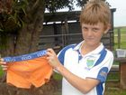 QUICK THINKING: Tom Thurlow with the undies he used to rescue two tiny birds.
