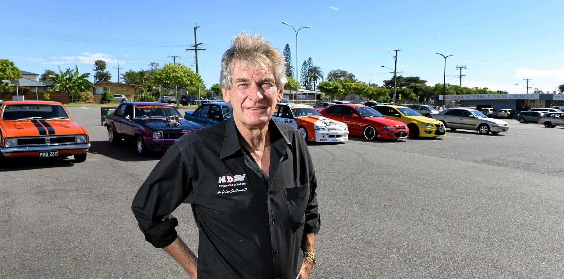 REVVED UP: HSV Owners Club Queensland president Les Gray is looking forward to the Holden Day Car Show.