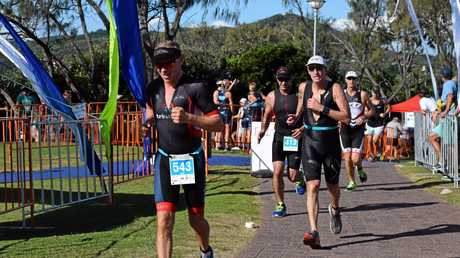 PERFECT WEATHER: Conditions were bright and sunny for the Byron Bay Triathlon on Saturday.