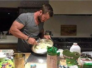 Chris Hemsworth bakes up a dinosaur for India