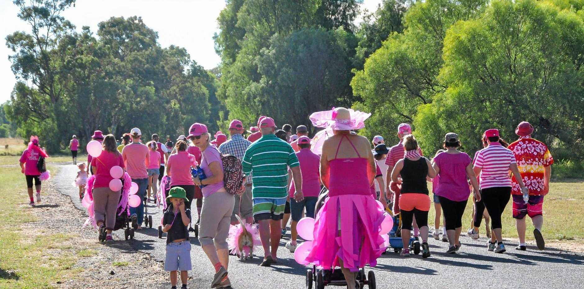 CLASSIC: Hundreds of Maranoa residents got decked out in pink for the annual Mother's Day Classic in Mitchell on Sunday.