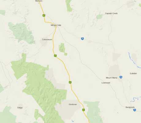 The fire has closed the Bruce Hwy south of Miriam Vale.