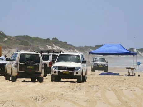Lynette Daley's body was found on January 27, 2011 at 10 Mile Beach north of Iluka. The crimescene where the body of a woman lay 11 kilometres north of the vehicle access to 10 mile beach north of Iluka. Photo: Rodney Stevens/ The Daily Examiner