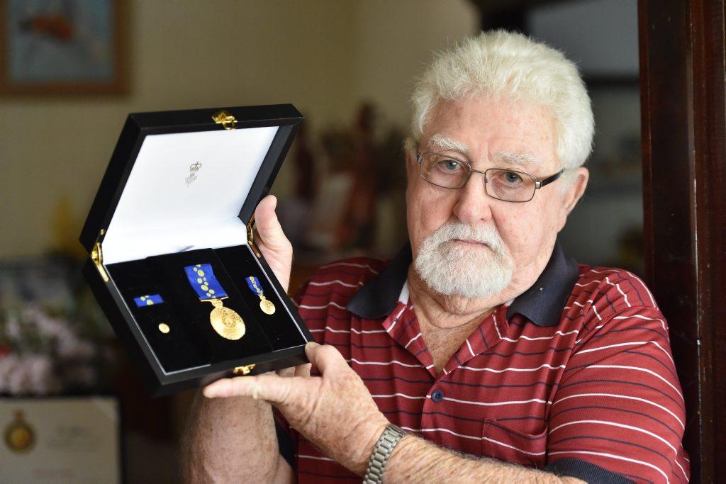Order of Australia Medal winner - Donald Jones. Photo: Alistair Brightman / Fraser Coast Chronicle