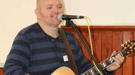 Well-known local musician and DDHHS volunteer Owie Paroz provided the entertainment at today's Volunteer Week lunch.