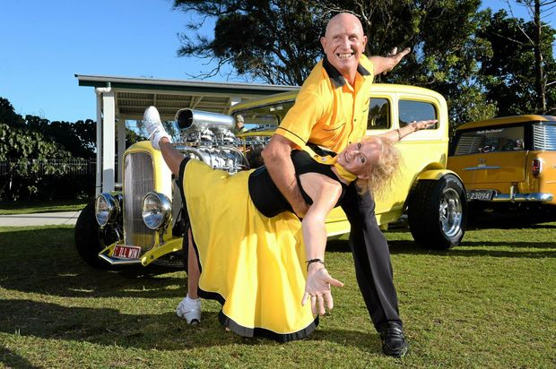 Gold Coast Rockers Sharon Warden and Ray Sparkes at Cooly Rocks On