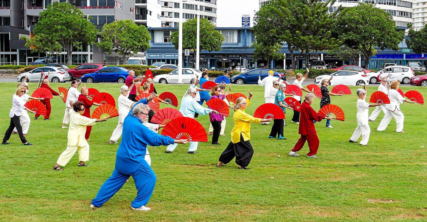 U3A Tweed Coast members show off their skills on World Tai Chi Day