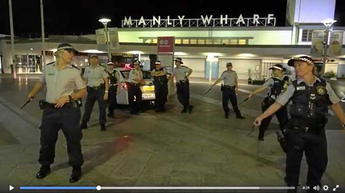 NSW Police taking up the Running Man dance challenge