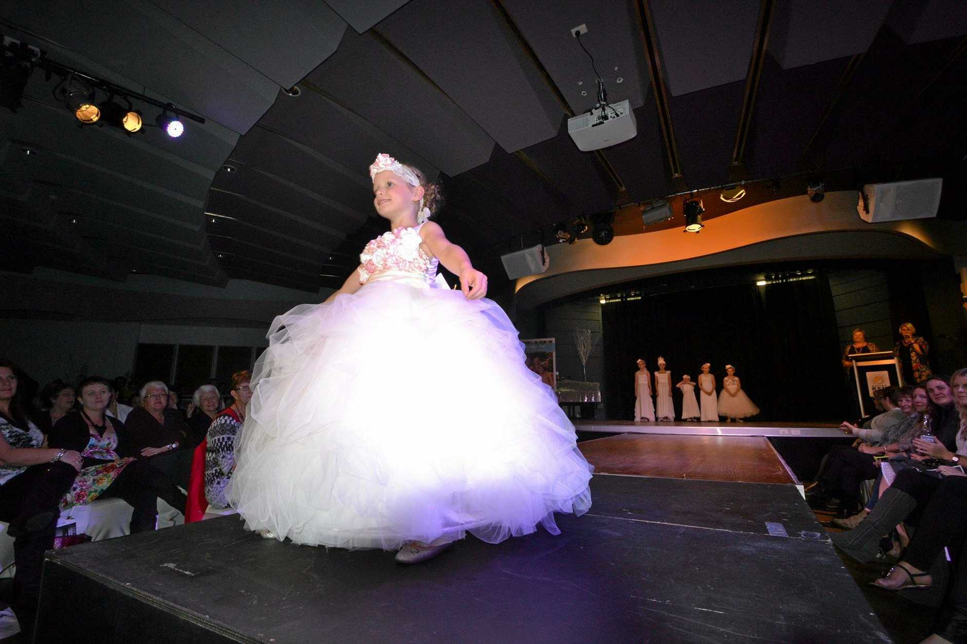 Vintage inspired children's wear by Annalise Burton from Sabihah Couture at the Northern Star Beef Week Fashion Parade.  Photo Samantha Elley / Express Examiner