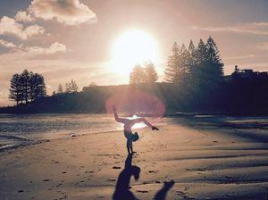 Ella captures magic moment on beach