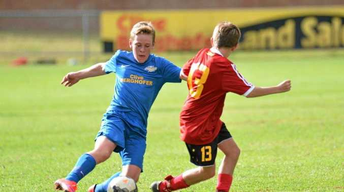 Alick Gaske plays for South-West Thunder in National Premier Leagues Queensland junior football.