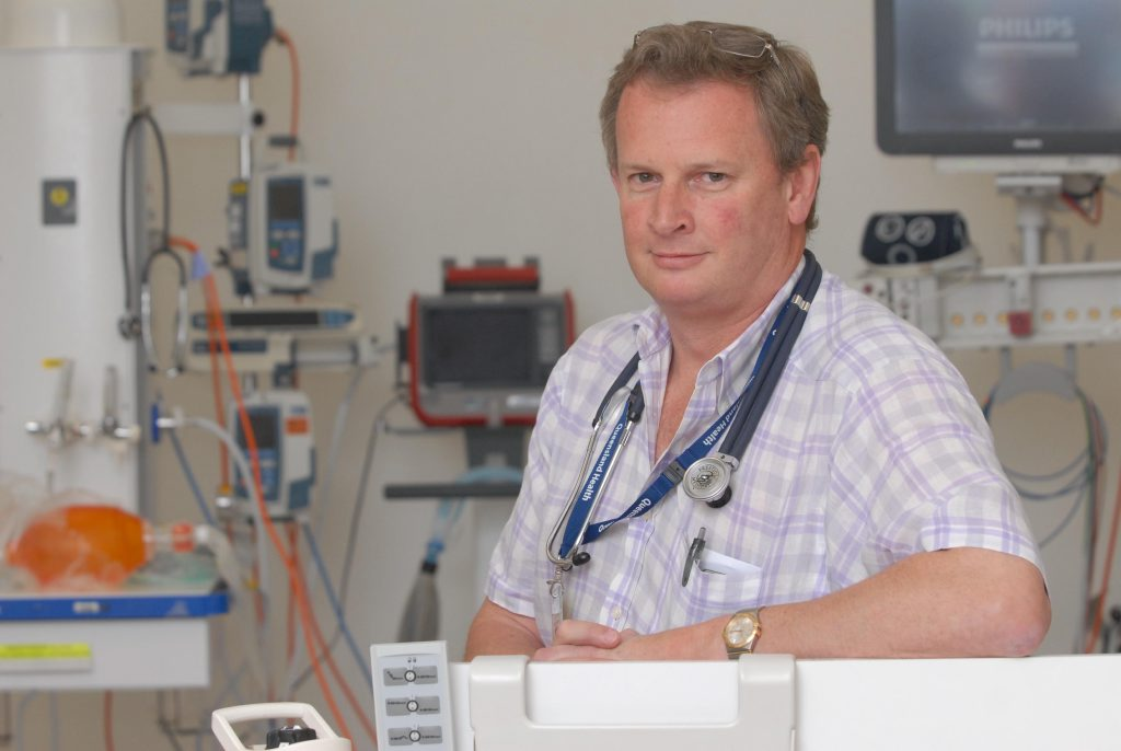 Dr Peter Wirth came to a settlement with Mackay Base Hospital on Friday.