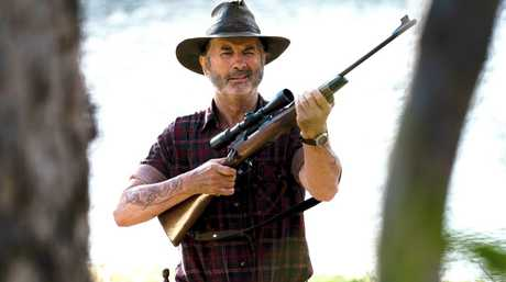 John Jarratt as Mick Taylor in a scene from the TV series Wolf Creek.