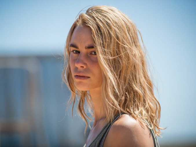 Lucy Fry as Eve Thorogood in a scene from the TV series Wolf Creek.