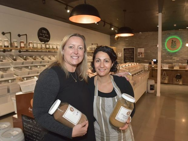 POSITIVE: Sheree Johnson and Tina Yaldon from Source Bulk Foods are excited about the future of the Big Top Shopping Centre.