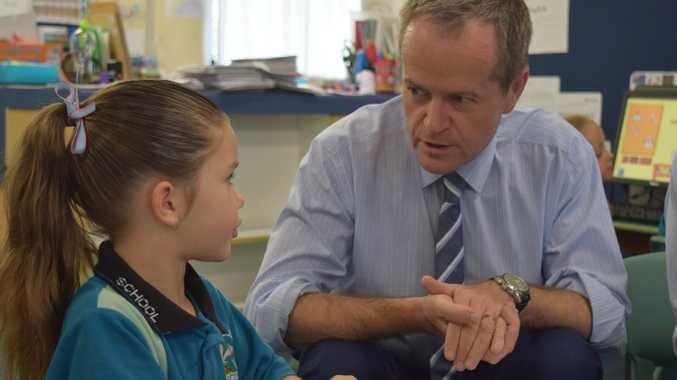 Opposition leader Bill Shorten visited Mackay today.