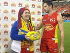 Kay Esmond was awarded the game ball at the Gold Coast Suns game.